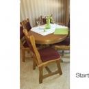 Rúsztikus étkező asztal székekkel fotó