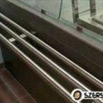 Tálcacsúszda rács polc rozsdamentes konzolos 320/30 cm-es eladó. fotó