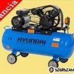 Hyundai 100 L-es V hengeres olajos kompresszor 8 Bar fotó