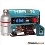 Heron benzin-gázmotoros EGM-68 AVR-3EG áramfejlesztő, 3 fázis 6, 8 kVA , önindítós fotó