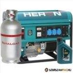 HERON benzin-gázmotoros GM-55/48 AVR-1G áramfejlesztő, 1fázis 5, 5 kVA fotó