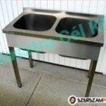 Rozsdamentes ipari mosogató 2 medencés AKCIÓS áron eladó fotó