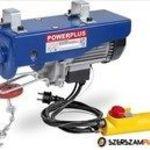 Power Plus Elektromos Drótköteles Emelő 300/ 600 kg Daru Csörlő Drót Köt fotó