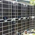 Tartály, 1000 literes tartály, ibc, műanyag tartály, víz, esővíz tároló fotó