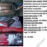 Pioneer Gm-a3602 erősítő eladó fotó