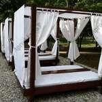 Luxus egyedi fenyő Baldachinos ágy!Napozóágy, Nyugágy fotó