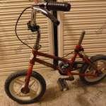 """12""""-os gyerek kerékpár nyereg nélkül eladó. fotó"""