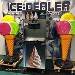 Electro Freeze 3 karos lágyfagylaltgép, csavaros fagylalt fotó