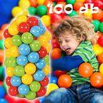 Mini műanyag labdák gyerekeknek / 100 db-os medence labda csomag kül- és beltérre is fotó