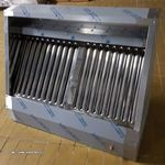 inox ipari nagykonyhai snack 1200 X 700 X 450 mm-es elszivó elszivóernyő páraelszivó fotó